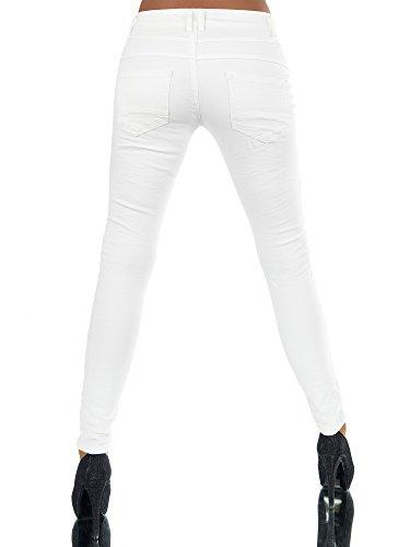 Diva-Jeans -  Jeans  - boyfriend - Basic - Donna Bianco