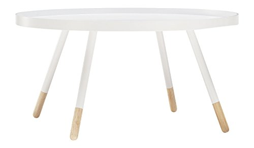 Dream Furniture India Coffee Table (Semi Glossy Finish, White)