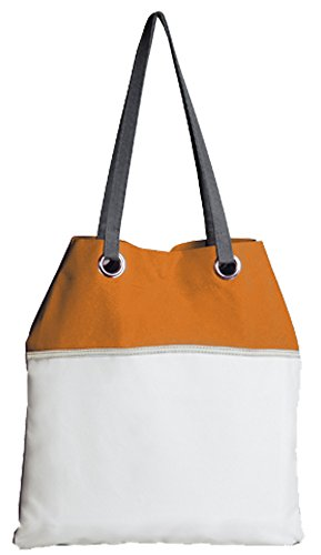 Borsa mare tempo libero mod. PORTO CESAREO - 100% poliestere 600D - Fermento Italia Orange/White