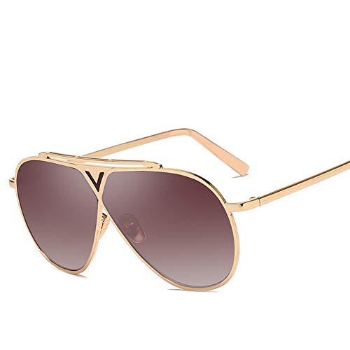 Kjwsbb Männer Pilot Sonnenbrillen Übergroße Brille Frauen Big Metal Frame Driving