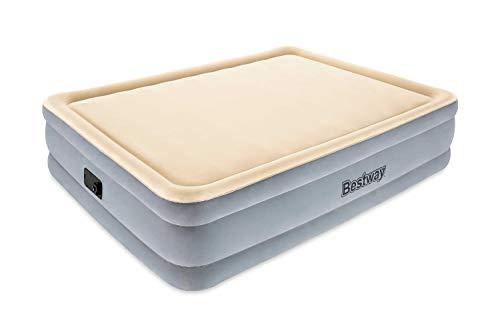 Bestway Memory Foam Doppelbett, Luftbett selbstaufblasend mit eingebauter Elektropumpe, 203x152x46 cm