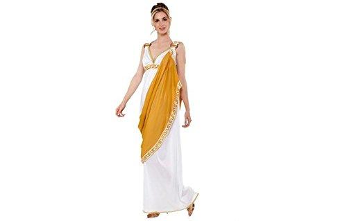 Kostüm Römerin Gr. S/M Kleid weiß-gold Schärpe Griechin Antike Karneval
