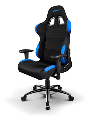 Drift DR100 - DR100BL - Silla Gaming, Color Negro/Azul