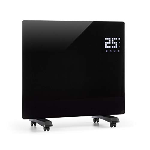 Klarstein Bornholm Single Calefactor convector - Radiador , Calefacción eléctrica , 500-1000 W , Modo Eco , Protección para sobrecalentamiento , Antisalpicaduras , Bloqueo de Seguridad , Negro