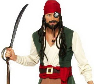 Kostüm Marine Pirat Jack - erdbeerclown - Herren Karneval Kostüm Pirat Seeräuber, M, Braun