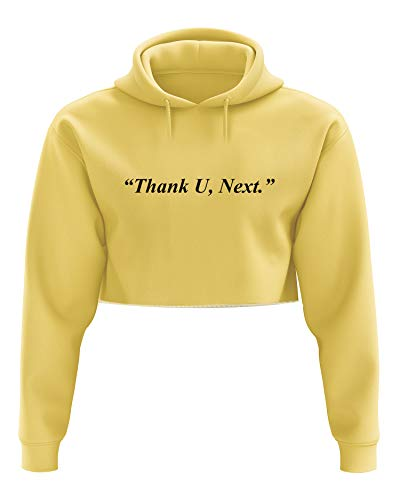 Thank U, Next Cropped Hooded Sweater