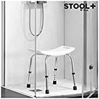 Cascade Bathing Stool+ - Taburete para ducha, antideslizante, altura regulable