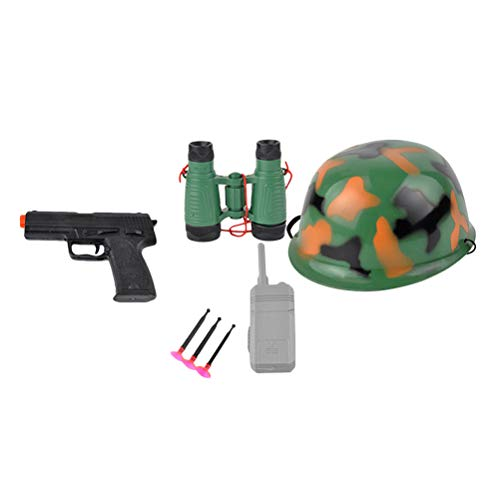STOBOK Kinder Polizist Kostüm Set Polizei Rollenspiel Kit Fernrohr Helm Pistole Funkgerät Kinder Cosplay ()