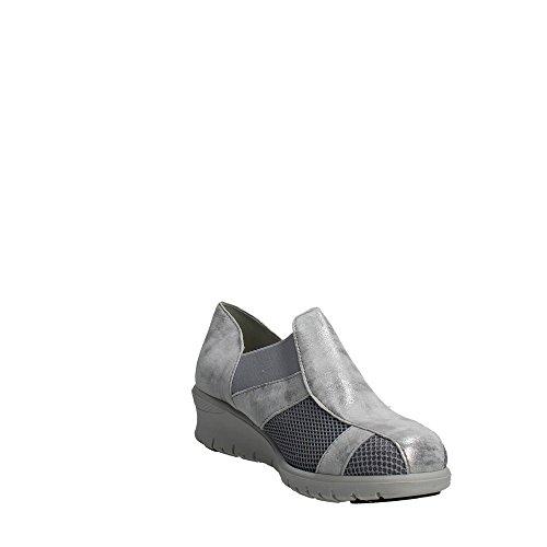 Cinzia Soft 9807 Sneakers Femme Suède/nylon Argent Argent