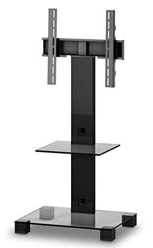 SONOROUS PL-2515 TN – Tischständer 108 cm von Altura, mit Ablage. Transparentes Glas/Gehäuse schwarz
