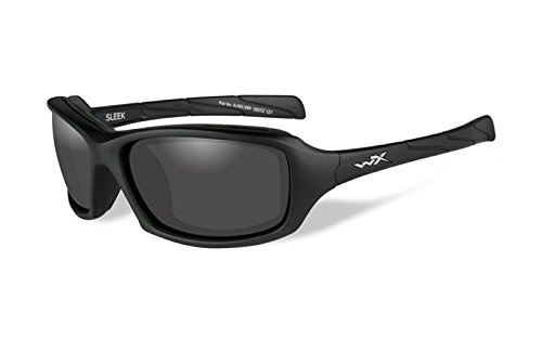 Wiley X Schutzbrille WX Sleek Sonnenbrille, matt, Unisex, Wx Sleek, Matte Black/Smoke Grey