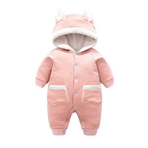 Chenqi Baby Hooded Strampler - Neugeborene Hoodies Mantel Dicke Kinder Oberbekleidung Boy Girl Winter Schneeanzug Outfit Warme Kleidung Overall Overalls (Kostüm Kid Elvis)