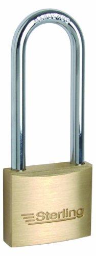 Sterling BPL242 Doppelt schließendes Sicherheitsschloss mit langem Bügel Messing 40mm