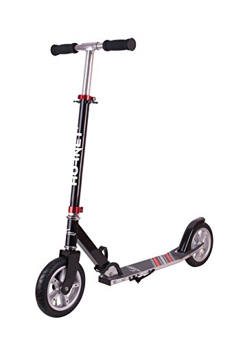 Hornet Scooter Roller Air 200, schwarz/rot | Luftreifen Big Wheel | Tret-Roller luftbereift | Kick-Scooter | 14533