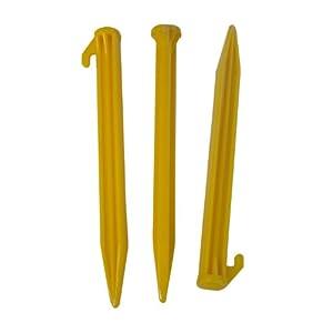 31jQd17AUxL. SS300  - L.A. Trekking 82526 Tent Pegs Set of 6 Plastic 20 x 2 x 2 cm Yellow