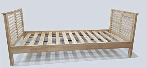 futon-online Ikuno Einzelbett, Natur, 90x200 cm.