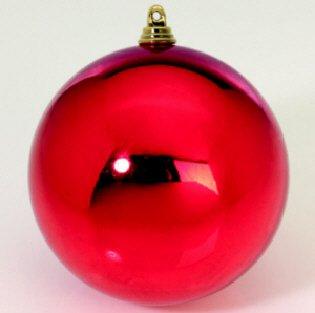 stbaumkugeln, Weihnachtskugeln 10cm rot glänzend, Outdoor Kunststoff, schwer entflammbar, Lieferung Frei Haus ()