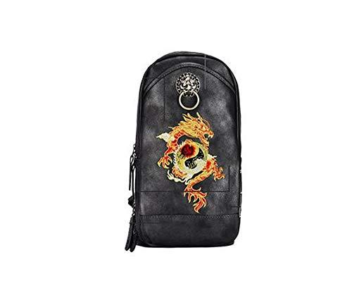 Borsa a tracolla, zaino, borsa vintage, borsa da studenteChinese drago...
