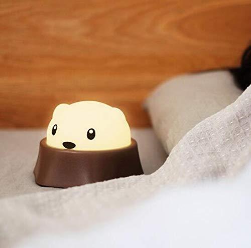 (ATMKOO Leichter USB, der Silikon Klapslicht Kreatives Notenschalterhamster-Nachtlicht Kreatives Karikatur-Nachttischlampenkind-Spielzeuglampenspaß Nettes Kleines Mole Auflädt)