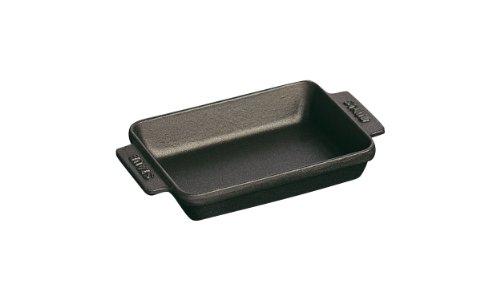 Staub 1301423 - Mini fuente rectangular, color negro, tamaño 15 x 11 cm