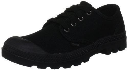 Palladium PAMPA OXFORD~BLACK/BLACK~M 92351-060-M Damen Schnürhalbschuhe Schwarz (Black/Black)