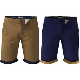 DUKE D555 Big Kingsize Smart Casual Stretch Cotton Chino Shorts with Turn Ups
