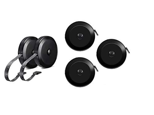 Maßband einziehbare,Double-scale Maßbänder 5 Stück Flexible Maßband mit Push-Button für Körper Messung Bekleidung Gewichtsverlust 150cm/60 Zol (Flexible Einziehbare Maßband)