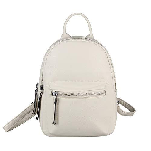 OBC Damen Rucksack MÄDCHEN Cityrucksack Stadtrucksack Backpack Schultertasche Handtasche Metallic Daypack (Beige 25x28x12 cm)