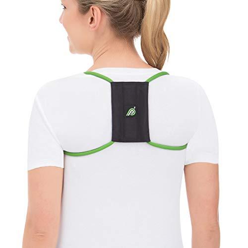 Posture Medic ORIGINAL 3in1 Rücken Geradehalter Haltungstrainer Bandage für Haltungskorrektur Stabilisierung von Schulter und Nacken I belastungsreduzierend für eine gerade Körperhaltung  M (Grün) -