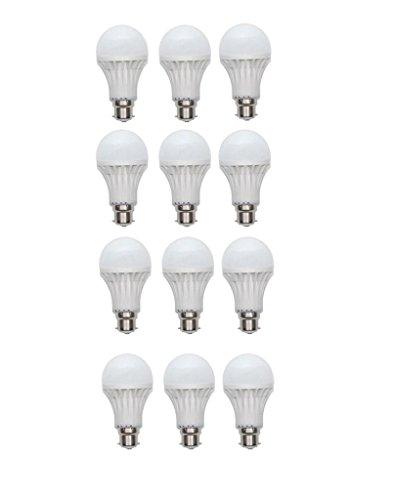 Inddus 3W Base B22 LED Bulb (white) Pack Of 12  available at amazon for Rs.690