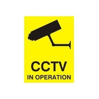 CCTV Window Sticker Security Camera Warning Sign Window Sticker - Facebook window stickers for business uk