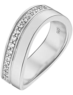 JETTE Silver Damen-Ring Free Spirit 925er Silber 15 Zirkonia (silber)