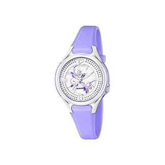 Calypso–Reloj de Cuarzo para Mujer con Correa de plástico, Color Morado y Plata Esfera analógica Pantalla k5575/4