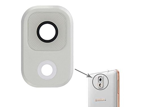 New Camera Lens Cover For Samsung Galaxy Note 3 - White & Silver