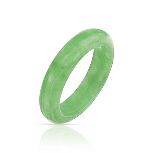 Bling Jewelry Einfache Edelstein Ewigkeit Stapelbar Gefärbt Grün Jade Ring Für Damen Für Jugendlich August Geburtsstein