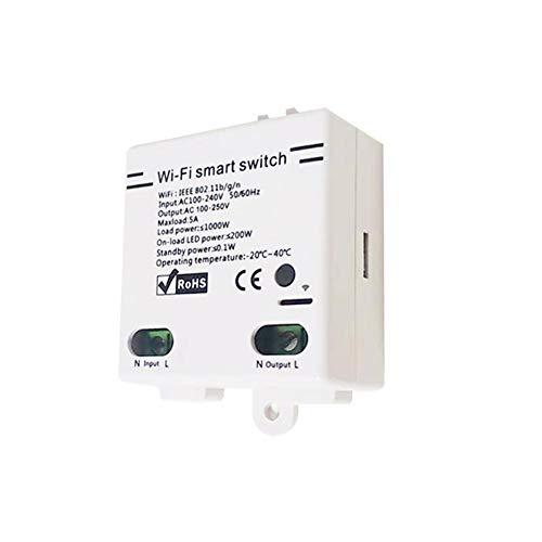 Smart Light Switch, Wireless Wifi Smart Switch Compatibile Con Alexa/Wink Hub/Hub Zigbee HA/Smart Things Hub/Echo Plus/Show 2/Echo Dot FAI DA TE Smart Home App Funzione Timer Interruttore Dimmer Wifi