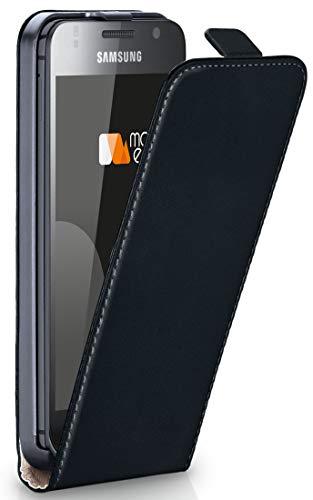OneFlow Tasche für Samsung Galaxy S / S Plus Hülle Cover mit Magnet | Flip Case Etui Handyhülle zum Aufklappen | Handytasche Handy Schutz Bumper Schutzhülle mit Schale in Schwarz I9000 Hard Case