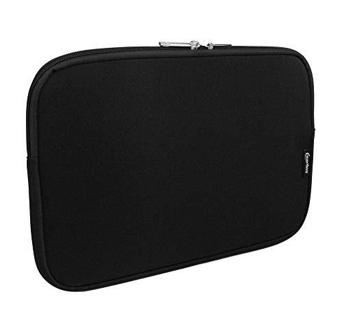 emartbuy Jet Schwarz/Schwarz Wasserdicht Neopren Soft Zip Case Cover Hülle 11-12.2 Zoll Kompatibel Mit Ausgewählte Geräte Unten Aufgeführt -