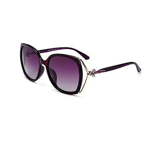 JFFFFWI Polarisierte Sonnenbrille UV-Schutz Blendfrei Streulicht eliminieren Unisex Für Jede Gesichtsform geeignet (Farbe: Lila)