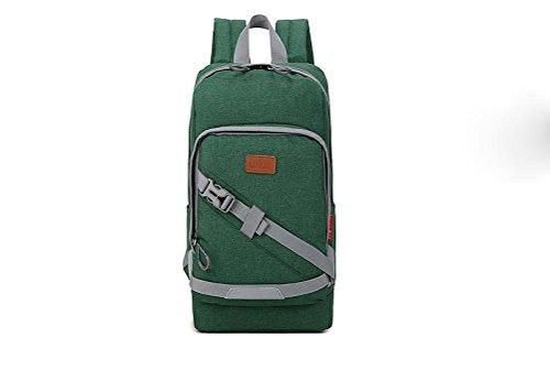 FEN Koreanische Version der Damen Rucksack Freizeit Reisetasche Mode-Trend-Rucksack (grün, grau) , 1