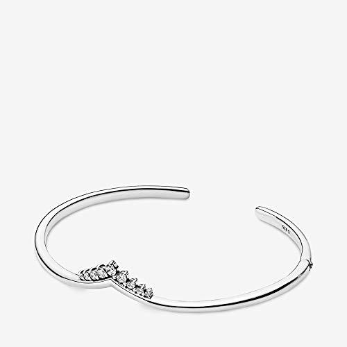 Pandora Silber Damen-Armreif Tiara Wishbone 598338CZ-1 16 cm