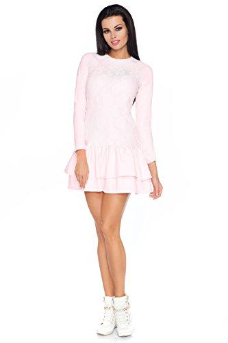Futuro Fashion Déguisement Sexy avec différencié Volant et En dentelle Haut Motif Fleur Taille 36-38 FA450 Rose clair