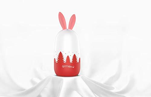 Baby 4in1 Pflege-Set für Fingernägel und Fußnägel mit Nagelknipser, Nagelschere, Nagelfeile und Pinzette für Kinder und Neugeborene in süßer Bären Geschenk-Verpackung (Rot)