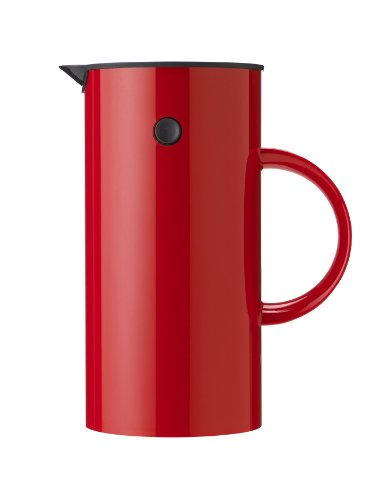 Stelton 813 EM Pressfilterkanne 1 L, Kunststoff, rot, 14 x 14 x 22 cm