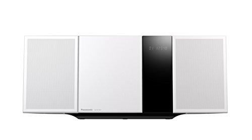 Panasonic SC-HC397EG-W Design Micro HiFi(Wandmontagefähig, LincsD-Amp Digitalverstärker, Smartphone-Kopplung, NFC, Bluetooth, 40 Watt, USB, UKW und Nano Bambus) weiß