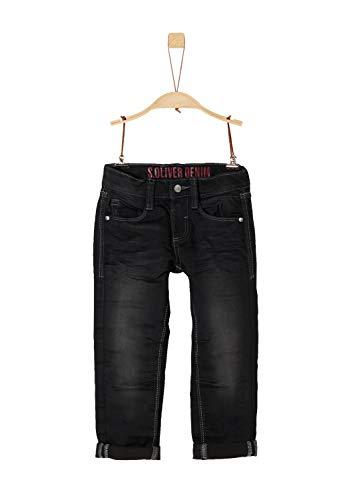 s.Oliver RED Label Junior Jungen Brad: Warme Superstretch-Jeans Black Denim Stretch 140.REG - Black Label-denim