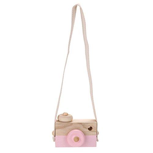 Lalang Niedliche Baby Kinder Holz Kamera Spielzeug Kindermode Bekleidung Accessory Zubehör,als Beste Geburtstagsgeschenk für Baby (Rosa) (Baby-kamera-spielzeug)