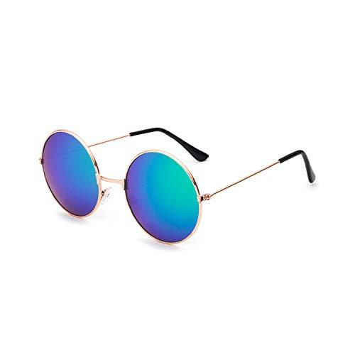 Vikimen Sportbrillen, Angeln Golfbrille,New Womens Round Sunglasses Retro Gold Silver Black Frame Unisex Eyewear Female Male Sun Glasses For Men Oculos Gafas A4066-x18
