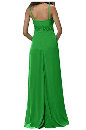 Toscana sposa perla Strass due-Traeger stanotte Chiffon giovane a lungo per abiti da sposa Bete abiti da festa Ball Verde