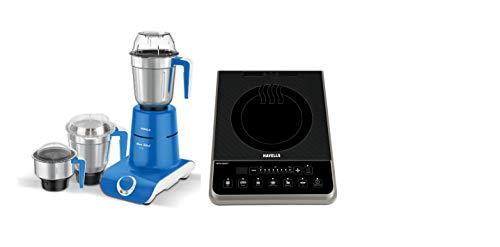 Havells Maxx Grind 750-Watt Mixer Grinder with 3 Jars (Blue) + Havells Insta Cook PT 1600-Watt Induction Cooktop